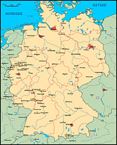 Digitale Landkarten: Deutschlandkarten - Europakarten
